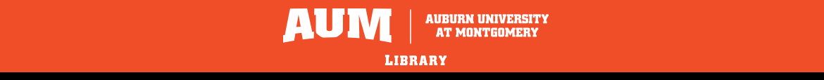 Auburn University at Montgomery: Ask YOUR Library banner