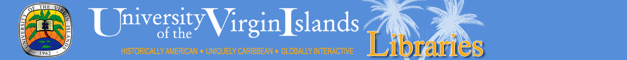 University of the Virgin Islands: NEED HELP?  Use LibAnswers banner