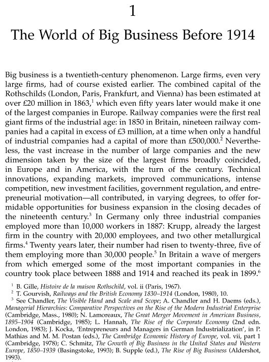 Big Business in Europe Before 1914