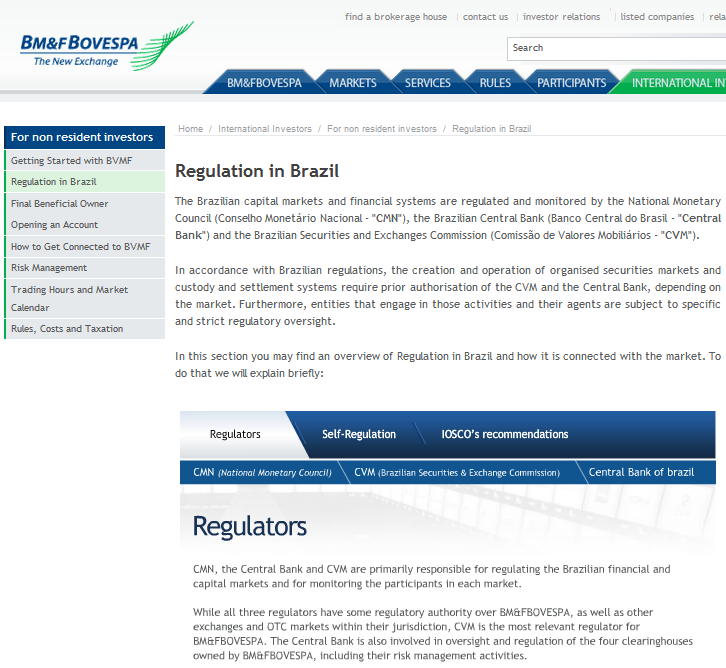 Regulation in Brazil
