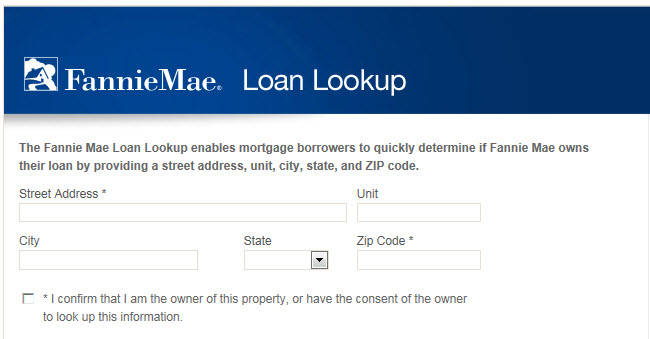 Fannie Mae Loan Lookup
