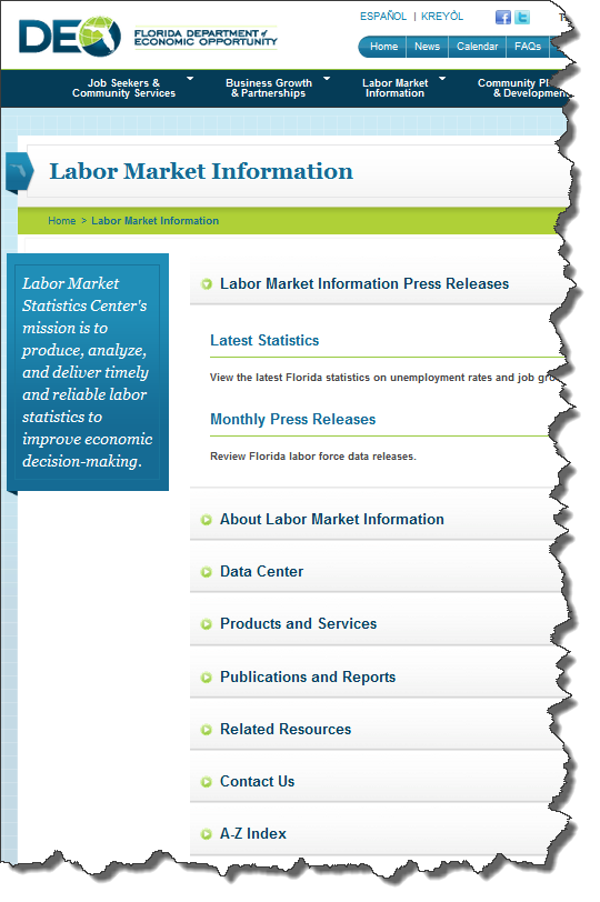 Florida DEO Labor Market