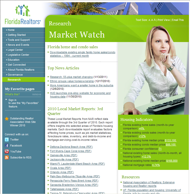 Florida Realtors Market Research