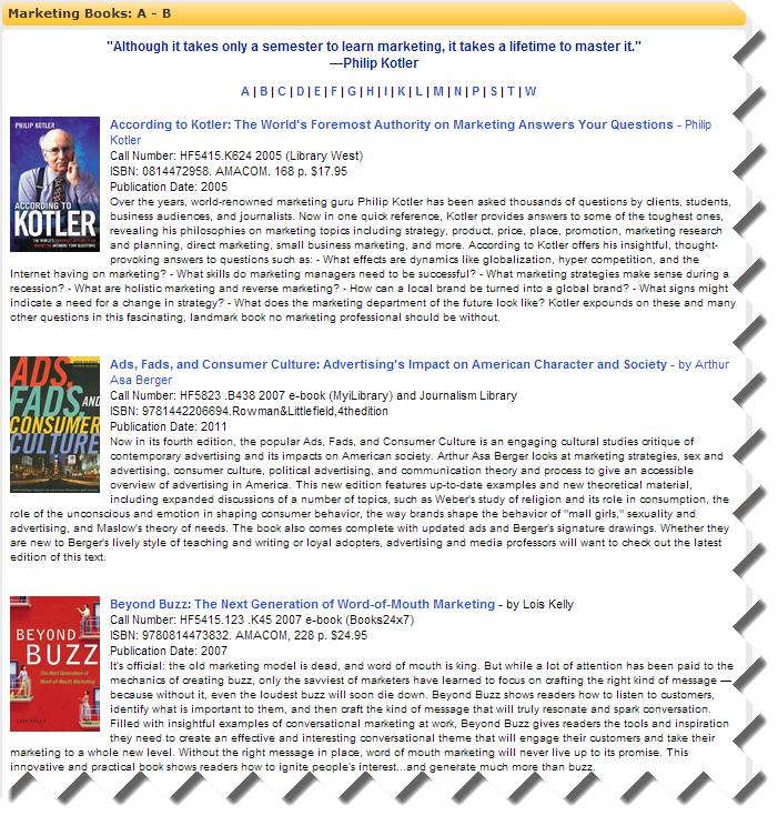 Marketing Books image
