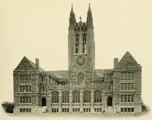 1913 photo of Gasson Hall, from Sub Turri