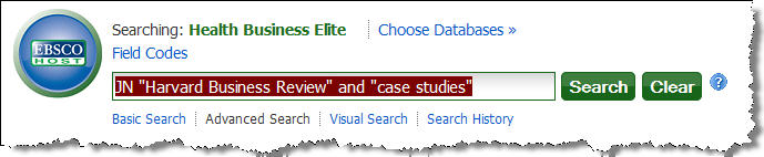 Case studies search