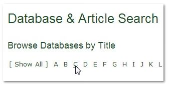 C on Databases Page