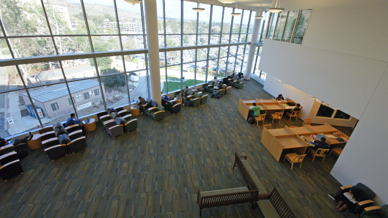 View of part of the Grand Reading Room from the 4th floor overlook
