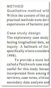 screenshot from an empirical article