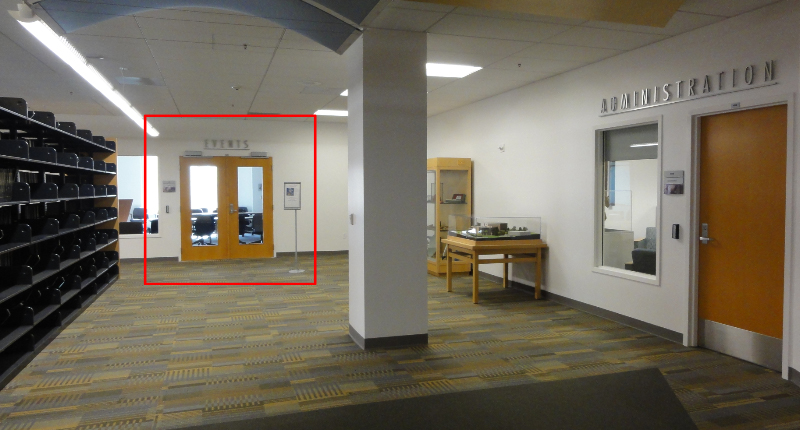 Photo showing the location of the Events Room