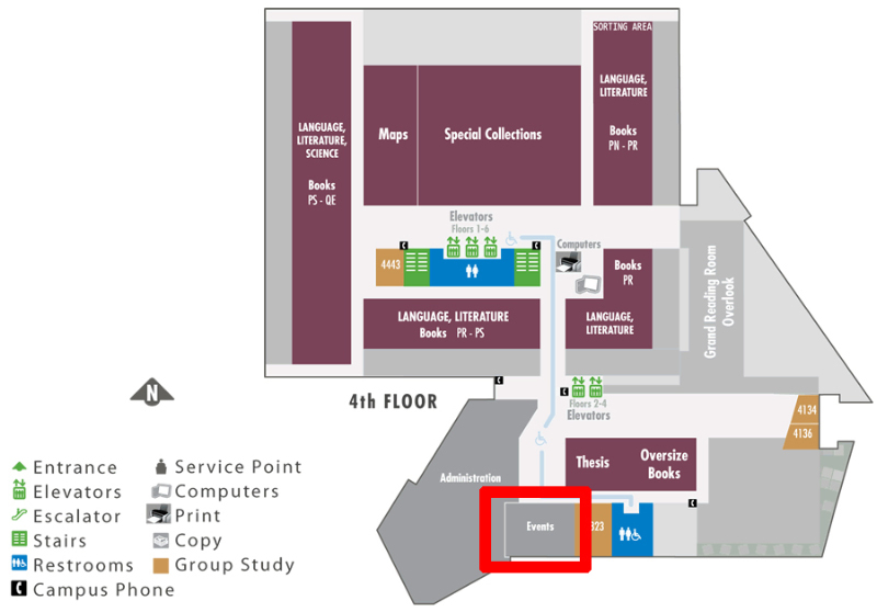 map showing the events room
