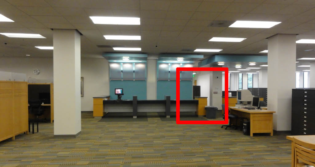 Photo showing the location of the Faculty Reading Room