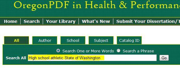 screenshot from OregonPDF database
