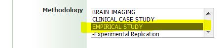 screen shot from ebsco psychlit