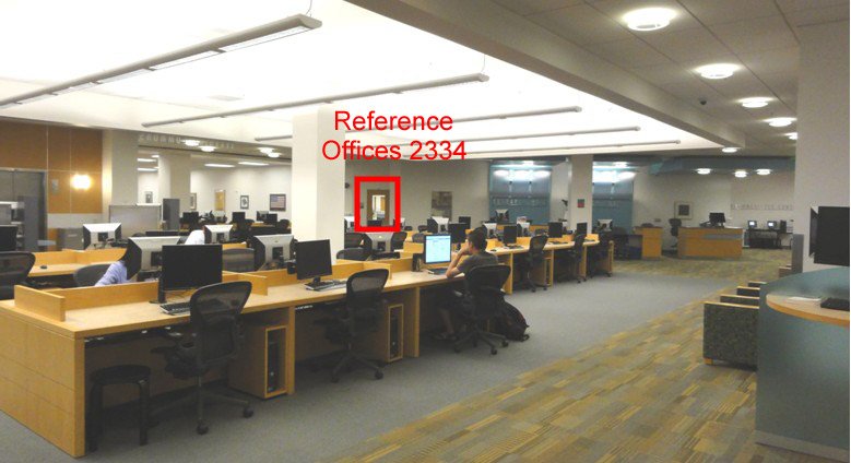 Photo Showing the location of the Reference Offices (2334)