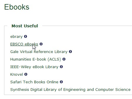 Screen shot from the Database and Articles pages