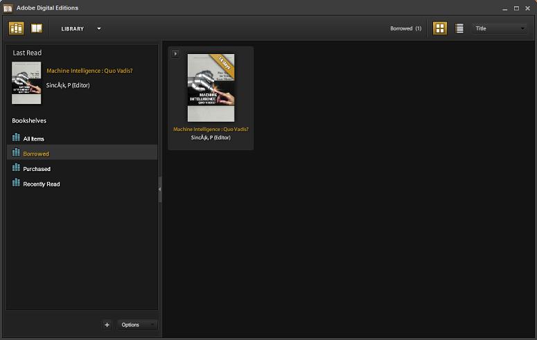 Adobe Digital Editions screenshot