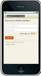 artstor mobile screen