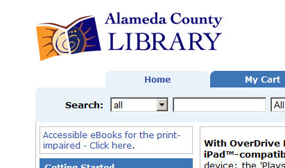 Information about ebooks for visually impaired