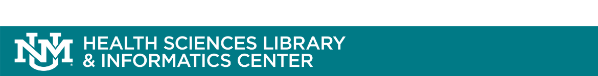 University of New Mexico Health Sciences Library and Informatics Center: LibAnswers banner