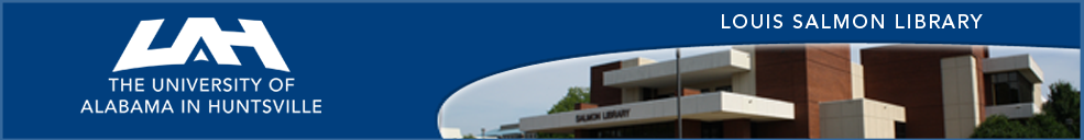 University of Alabama Huntsville: LibAnswers banner