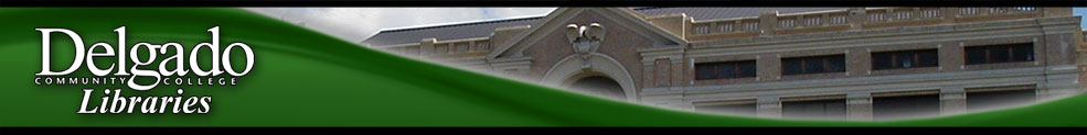 Delgado Community College: Ask a Librarian banner
