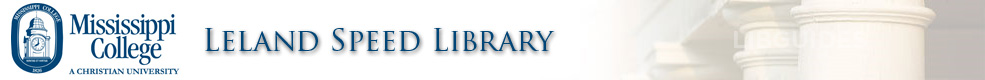 Mississippi College-Leland Speed Library: Ask A Librarian! banner
