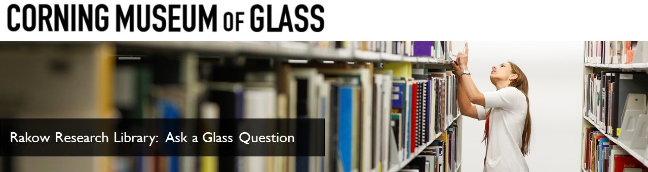 Corning Museum of Glass: Ask a Glass Question banner
