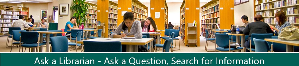 Oakton Community College: Ask a Librarian banner