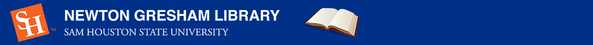 Sam Houston State University: Library FAQ banner