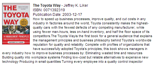 Toyota Way book cover