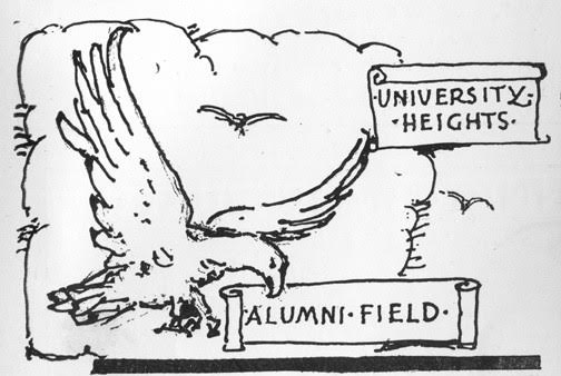 Earliest known illustration of Eagle Mascot in The Heights