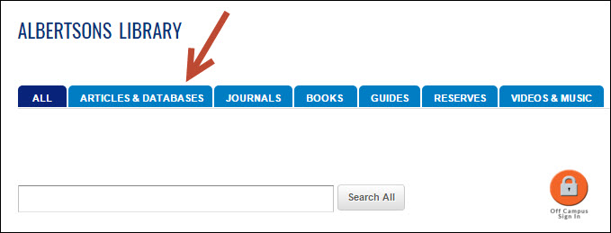 library homepage