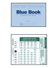blue book and scantron