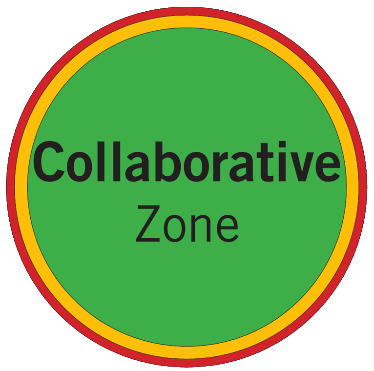collaborative zone indicated on maps with green