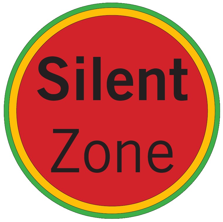 Silent Zones represented on maps by the color red