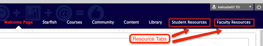 resource tabs