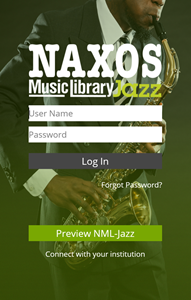 Naxos Music Library Jazz login