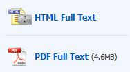 PDF and HTML full text buttons