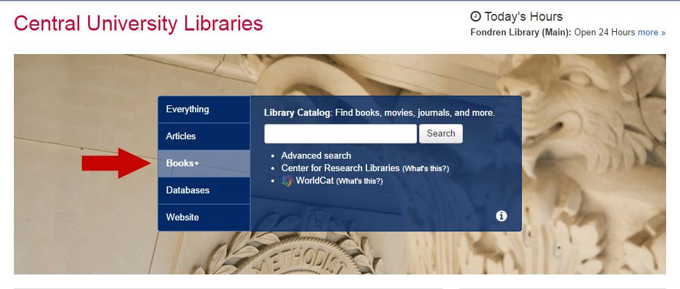 Books+ Search Tab