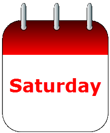 Saturday calendar icon
