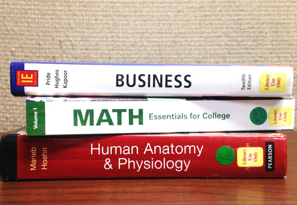 Image of textbooks