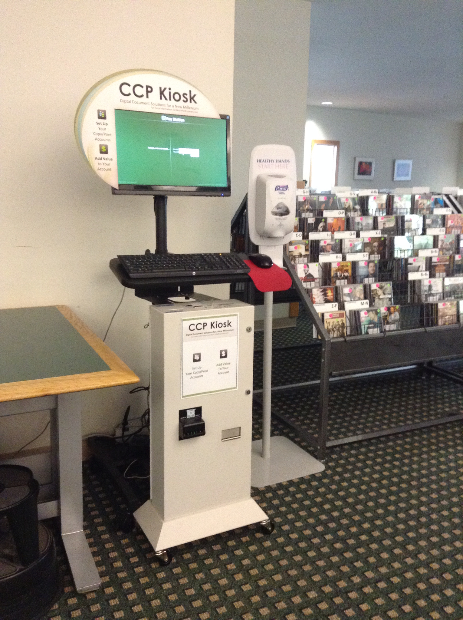 CCP Kiosk - add money to your print account
