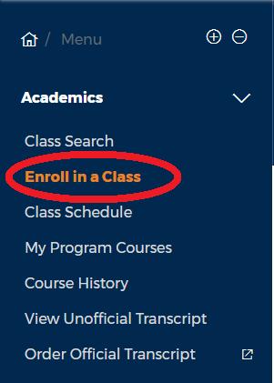 Enroll in a class
