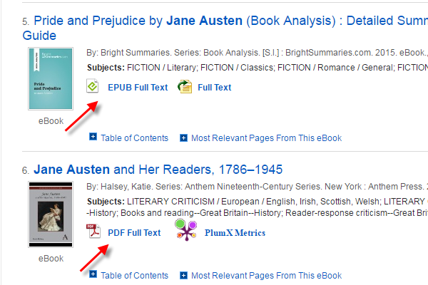 Books may be available as EPUB Full Text or PDF Full Text