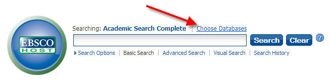 EBSCOhost Choose Databases