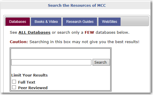 Search our databases